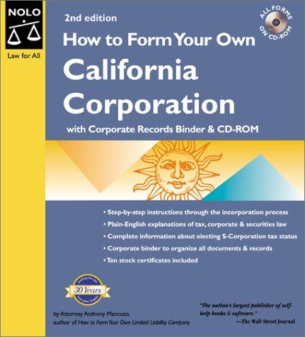 How to Form Your Own California Corporation (with Corp. Records