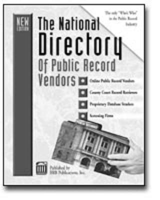 The National Directory of Public Record Vendors