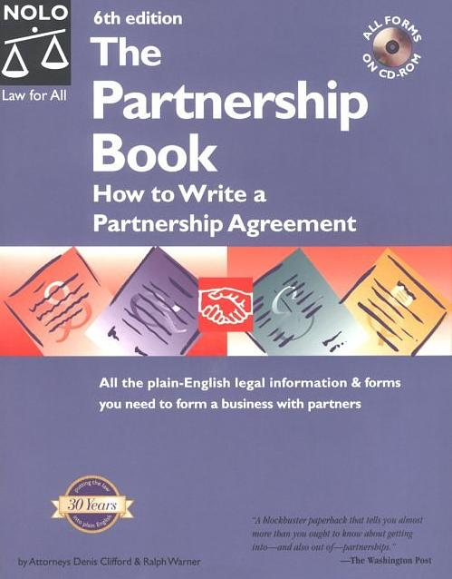 Partnership Book: How to Write a Partnership Agreement, The