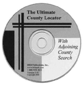 The Ultimate County Locator With Adjoining County Search (Single