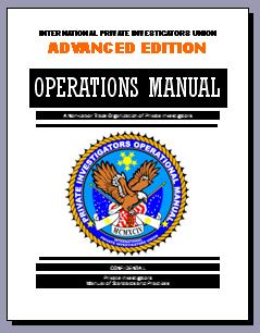 SALE:  PRIVATE INVESTIGATORS TRAINING MANUAL - ADVANCED EDITION