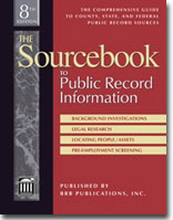 011 The Sourcebook to Public Record Information, 8th Ed.