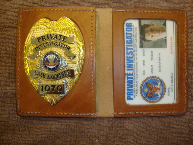 "NEW TAN GOLD BADGE & ""WALLET"""