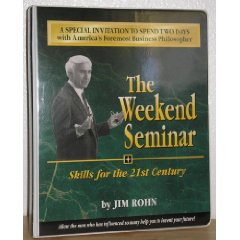 <b><font size=&quot;+1&quot;>JIM ROHN - $2000 WEEKEND LEADERSHIP Course NO